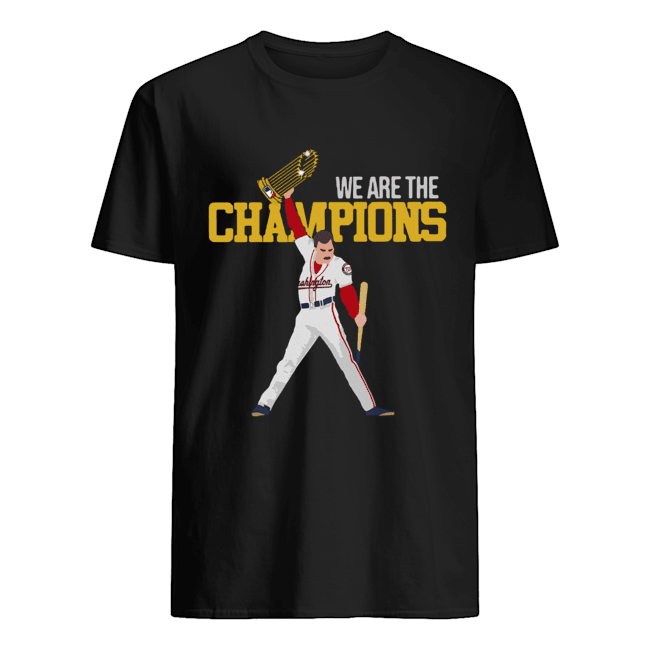 Washington Nationals Freddie Mercury We Are The Champions  Classic Men's T-shirt