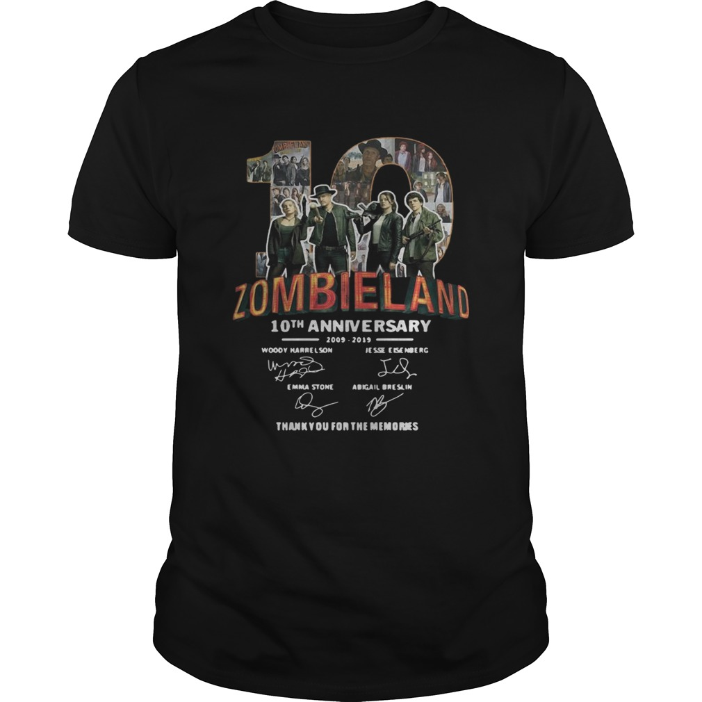 Zombieland 10th Anniversary 2009 2019 Signatures  Unisex