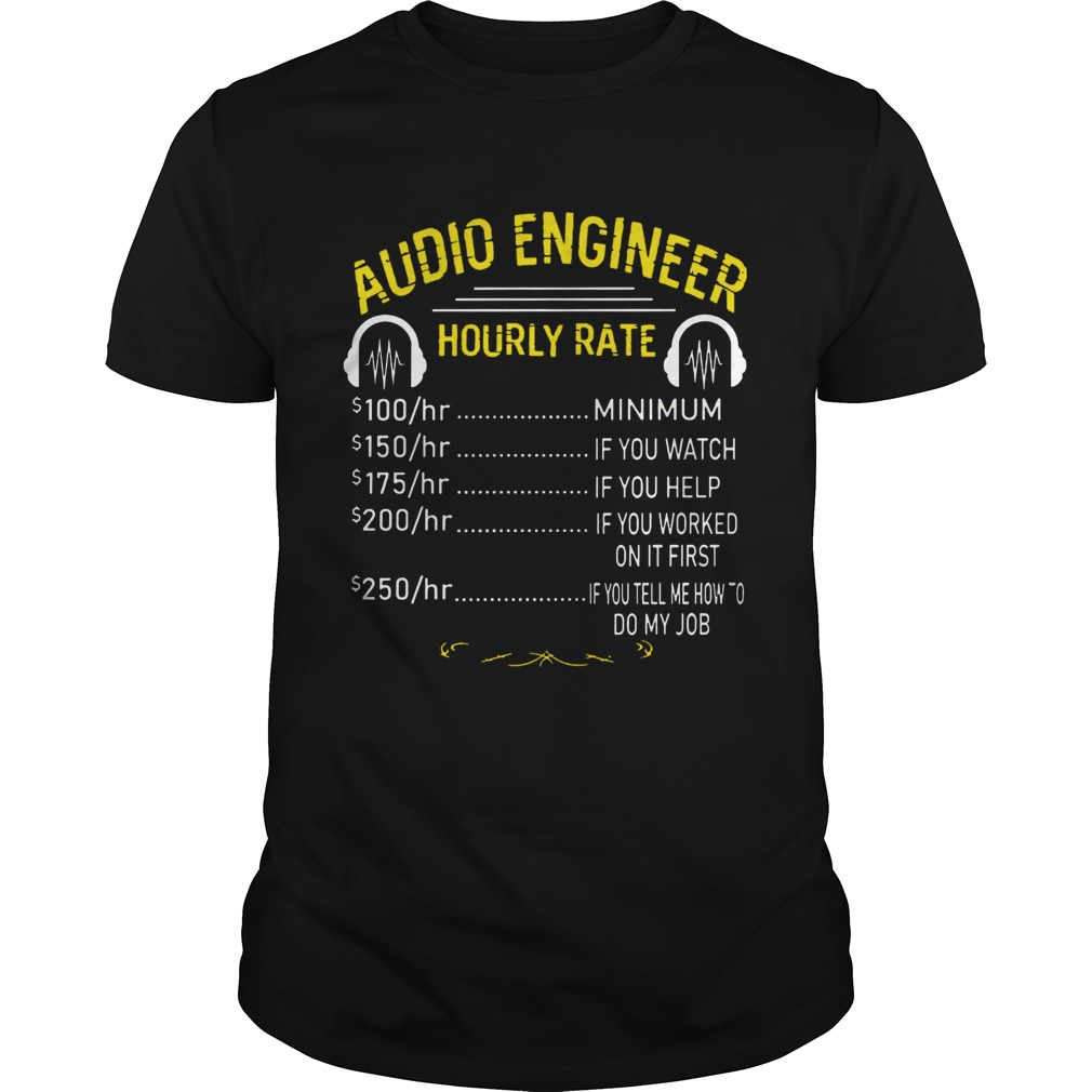 Audio Engineer Hourly Rate  Unisex