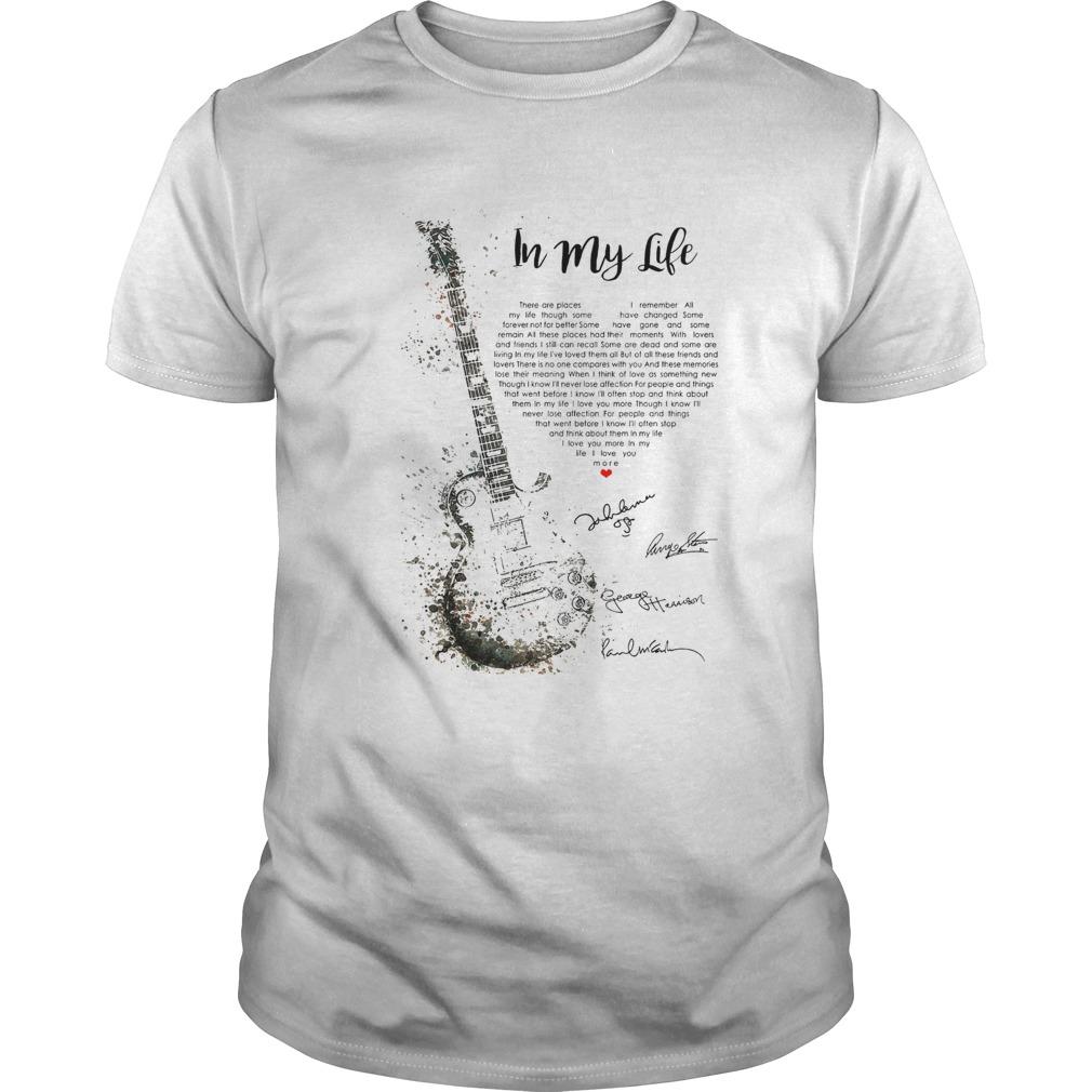 Guitar Signatures In My Life  Unisex