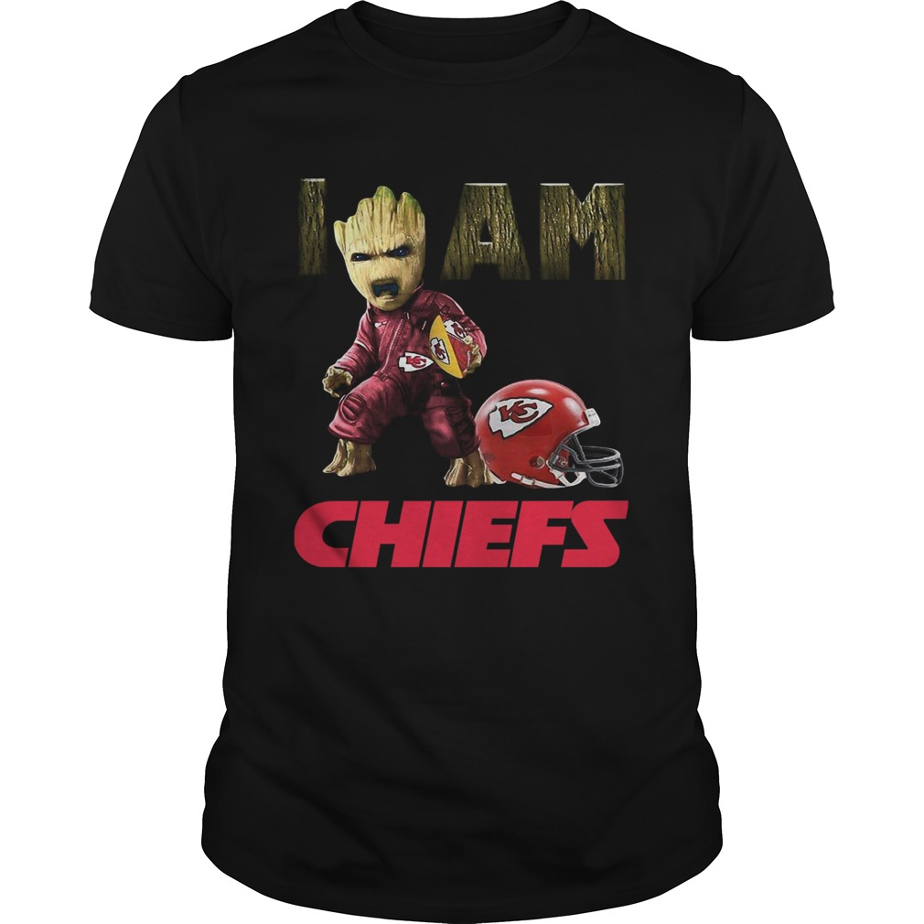 Kansas City Chiefs I Am Baby Groot  Unisex