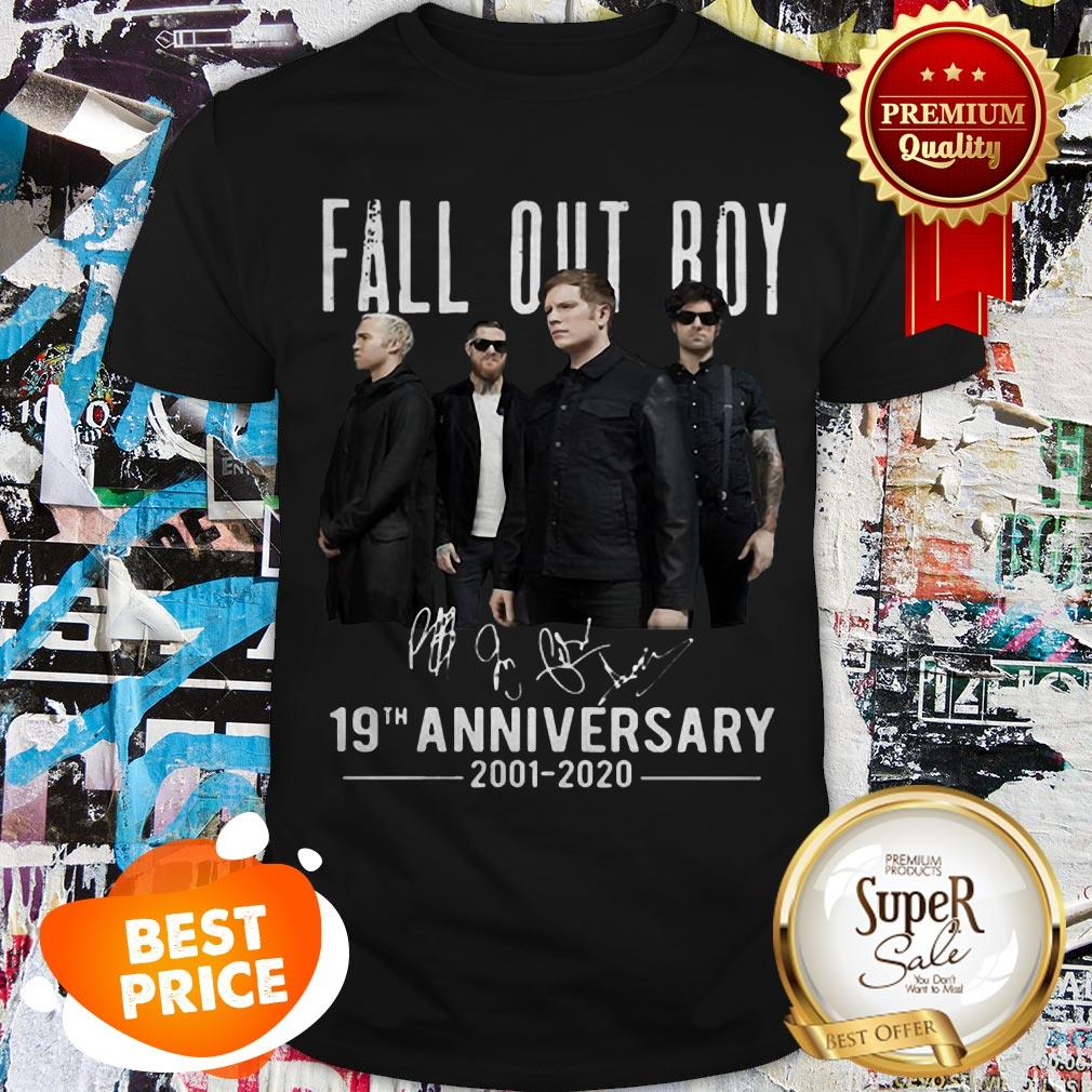Nice Fall Out Boy Signatures 19th Anniversary 2002-2020 Shirt