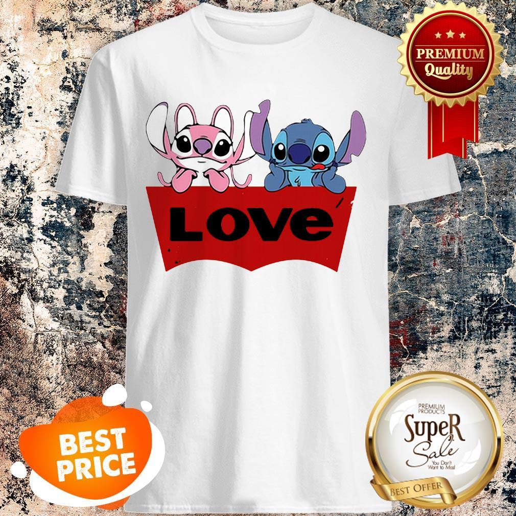 Nice Stitch And Angel Love Shirt