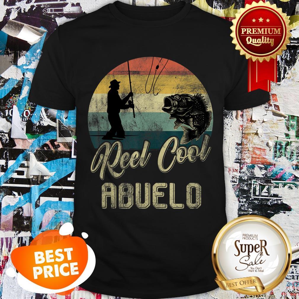 Nice Vintage Reel Cool Abuelo Fishing Shirt
