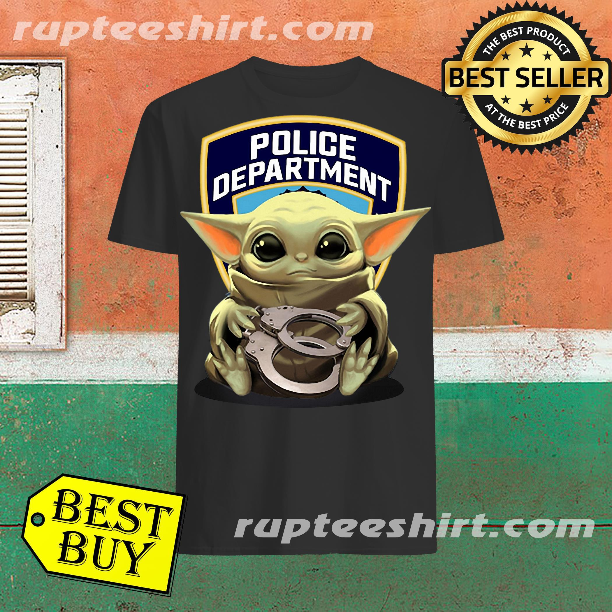 Official Baby Yoda Hugging Police Department Shirt