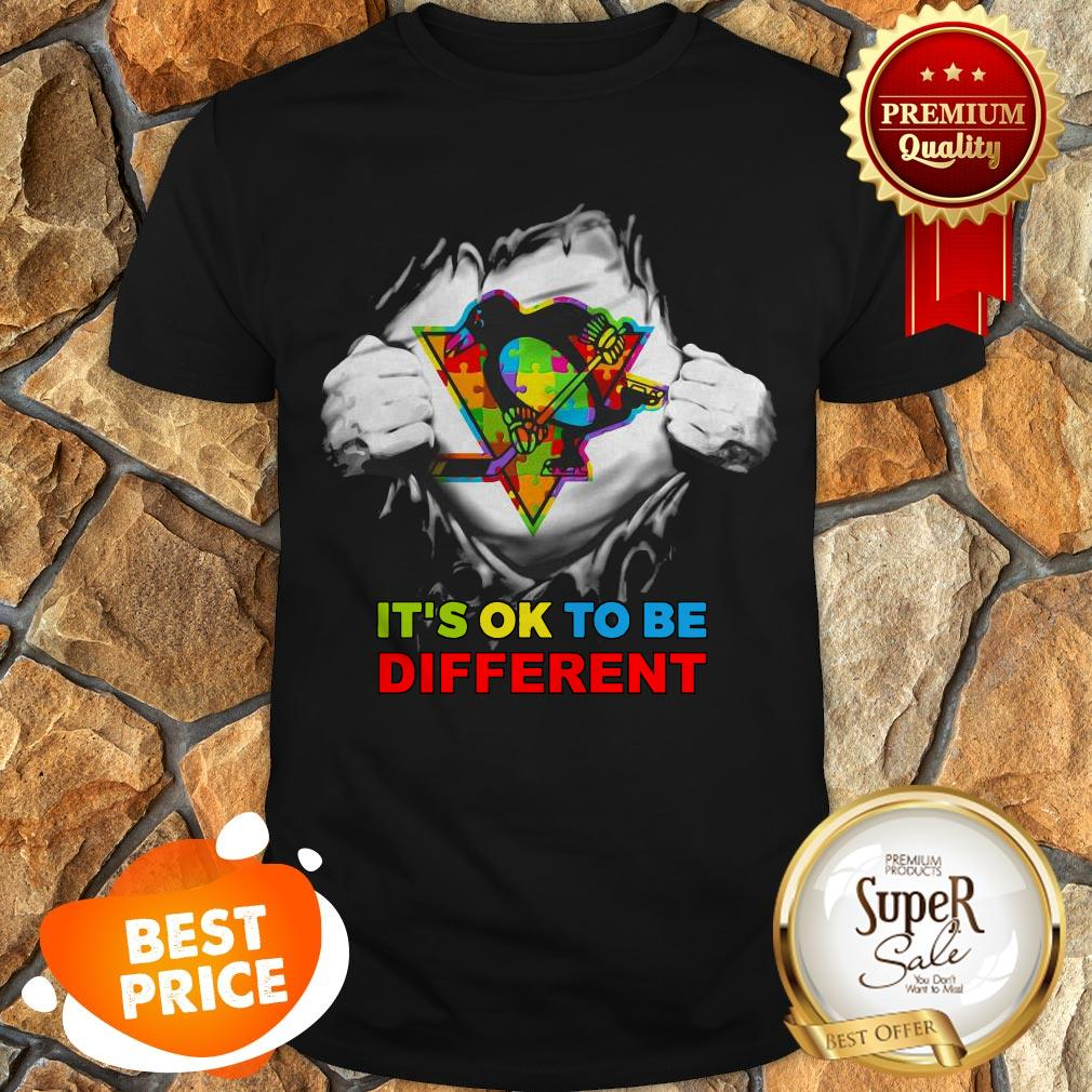 Pittsburgh Penguins Blood Inside Me It's Ok To Be Different Shirt