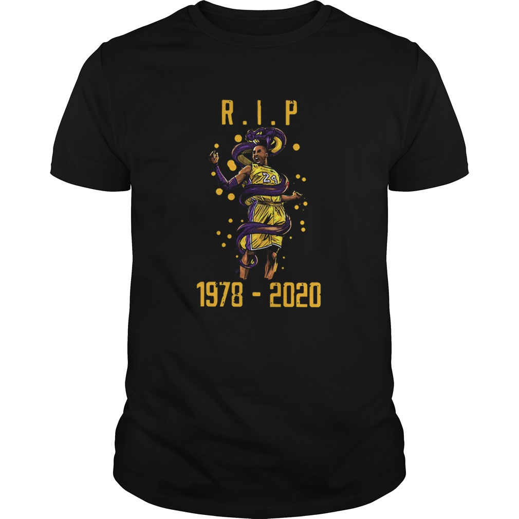 RIP Kobe Bryant 1978 2020 Los Angeles Lakers Black Mamba Out  Unisex