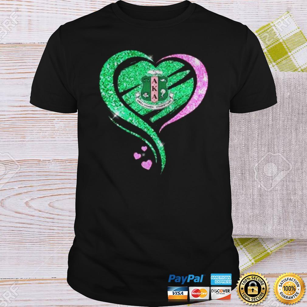 Alpha Kappa Alpha Heart Diamond shirt Shirt