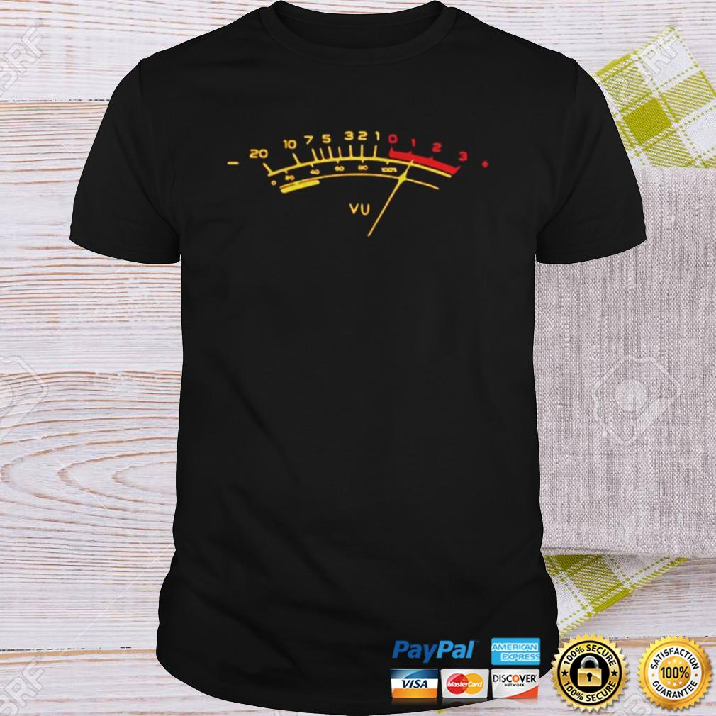 Analog electronic VU meter shirt