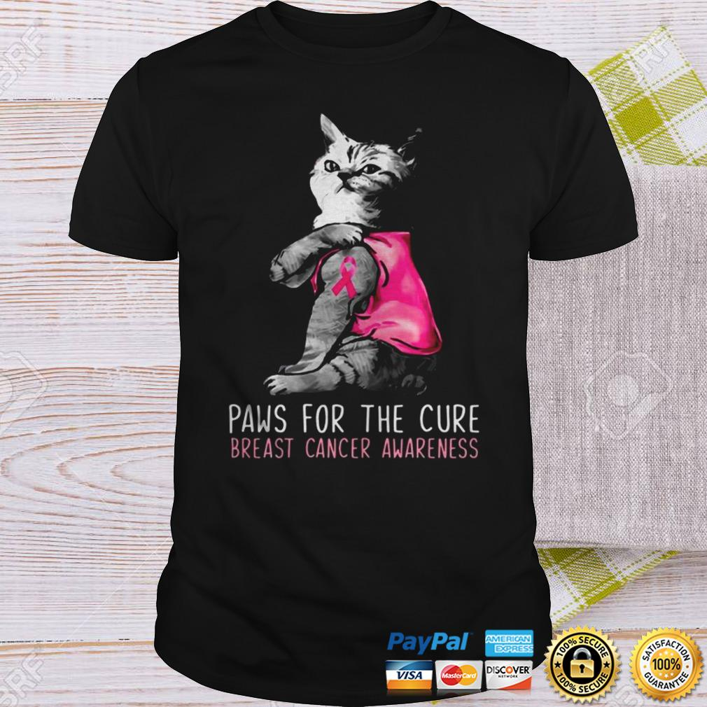 Cat paws for the cure breast cancer awareness Sweater