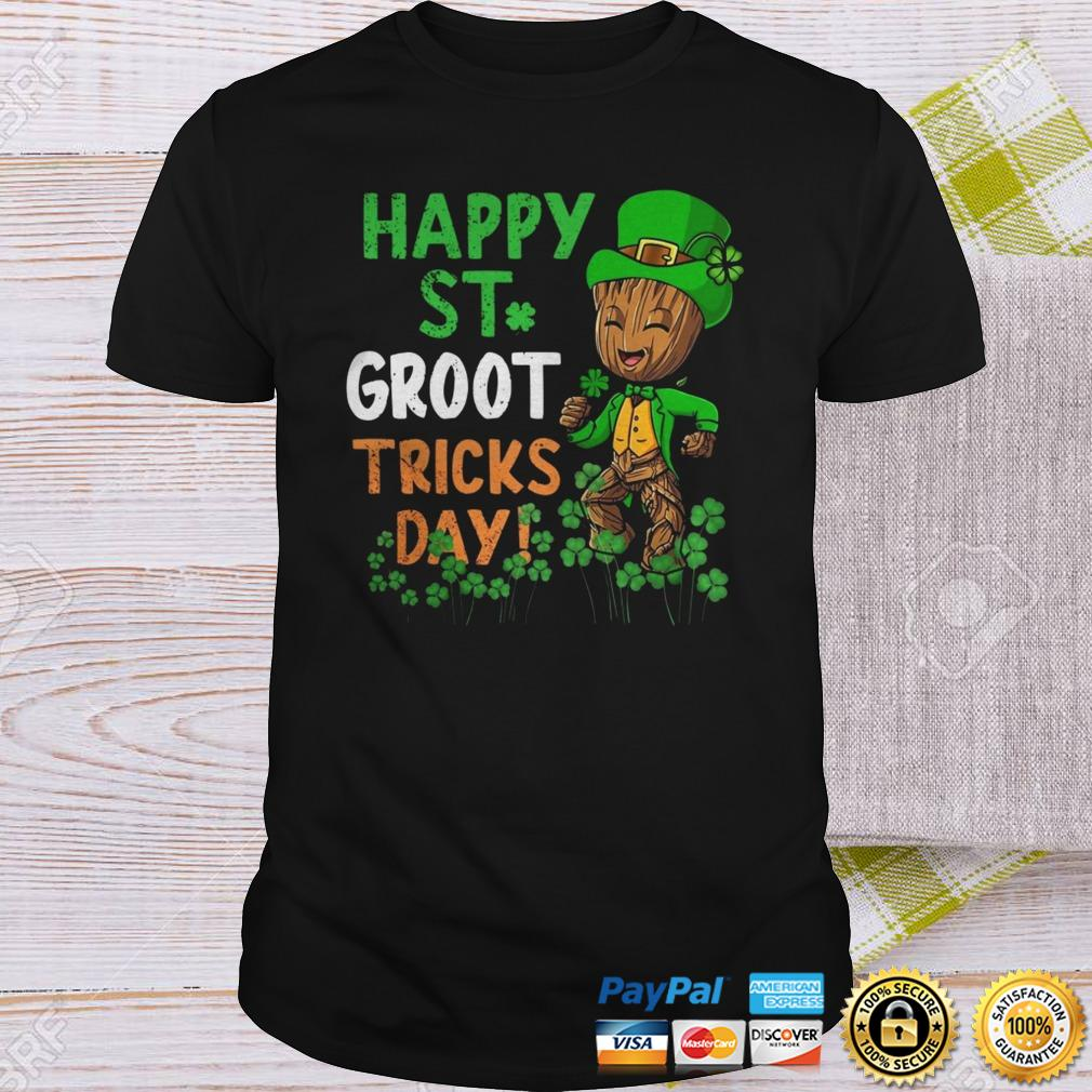 Happy St Patricks Day Groot Tricks Day Shirt Shirt