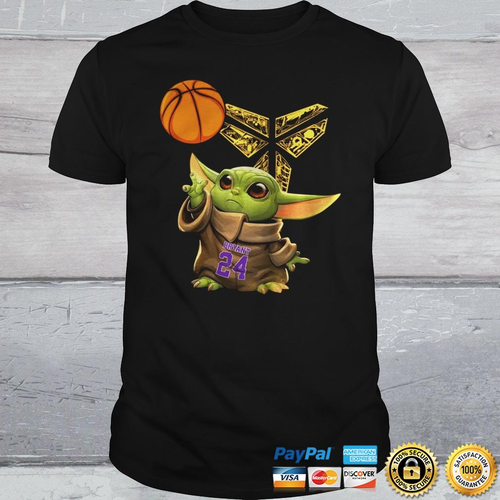 Kobe Bryant Baby Yoda Black Mamba Basketball Shirt Shirt
