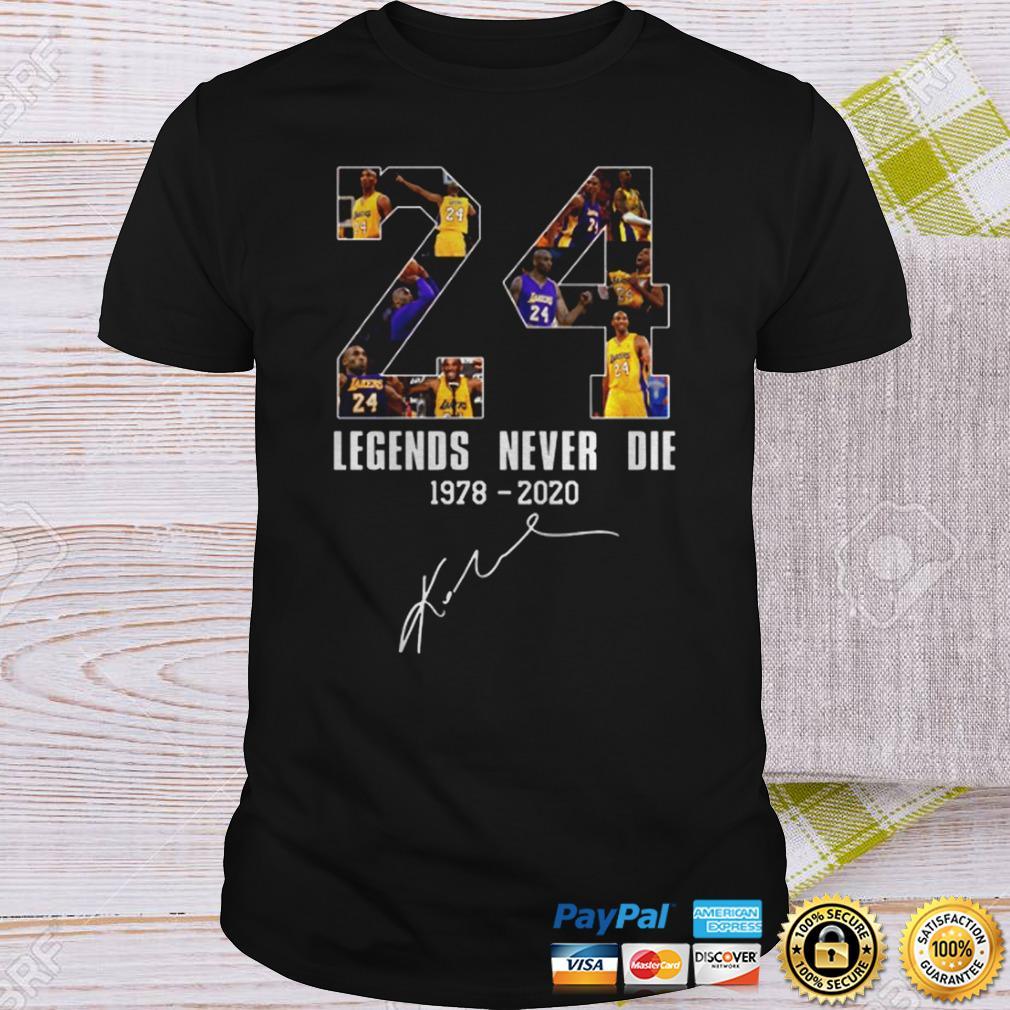 Legends Never Die Kobe Bryant 24 Signature Shirt