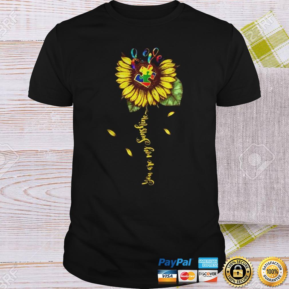 Love Autism You Are My Sunshine Shirt Shirt
