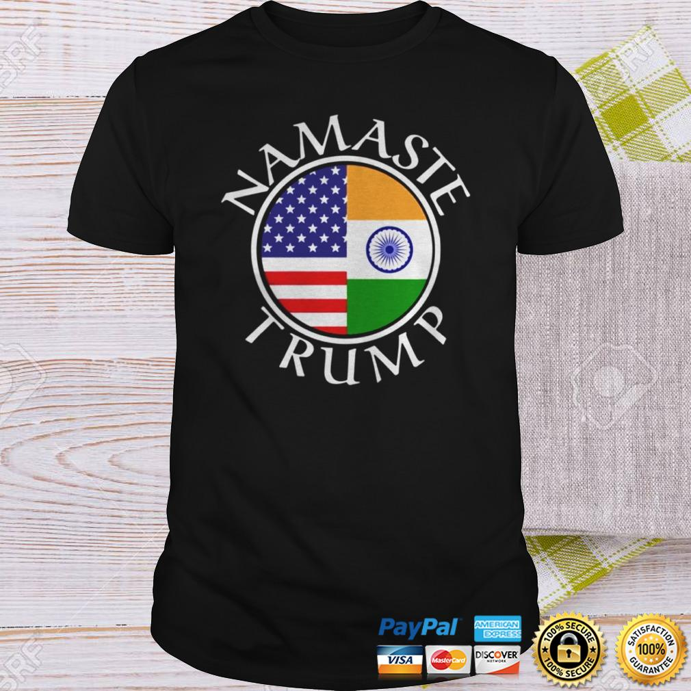 Namaste American Flag And Flag Of India Shirt Shirt