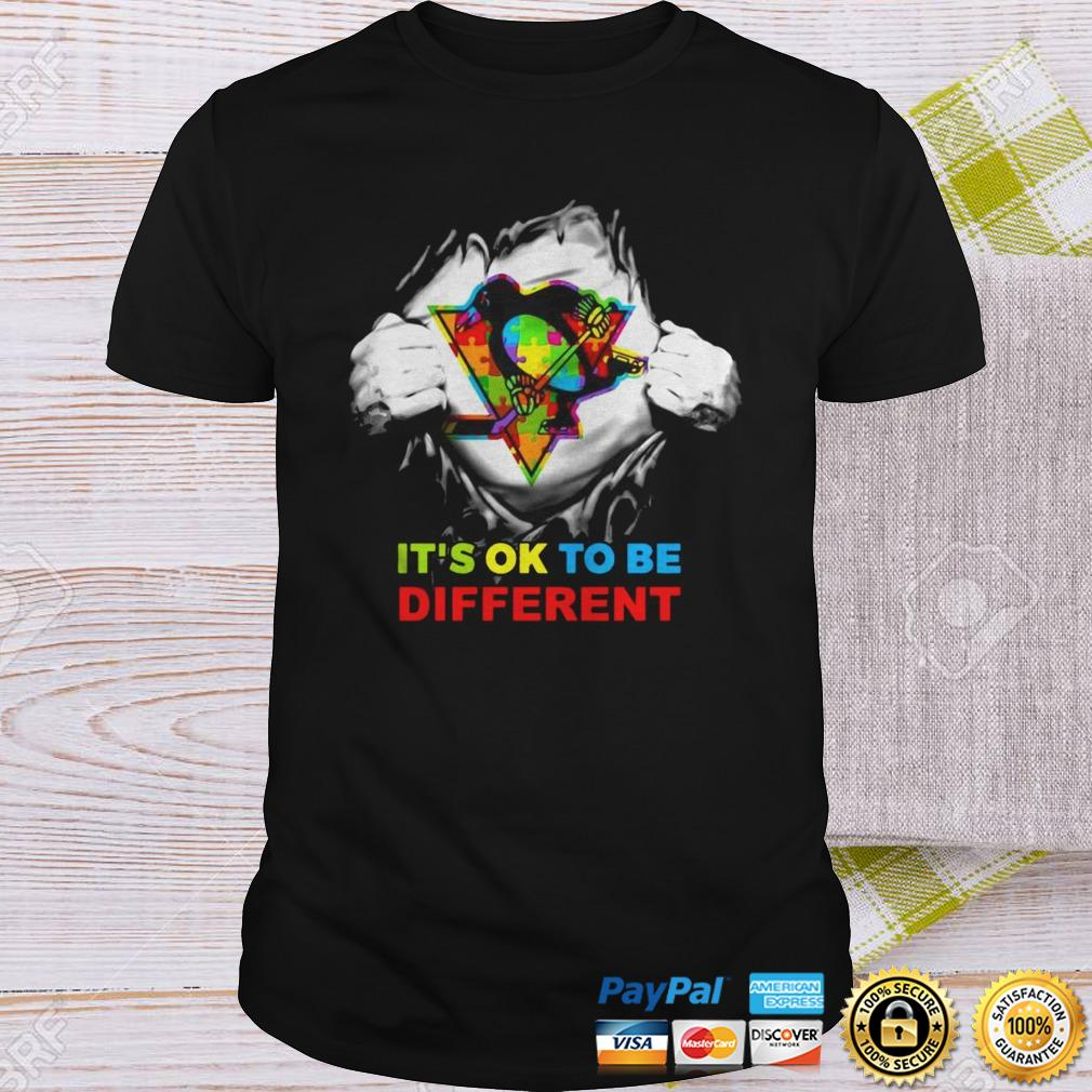 Pittsburgh Penguins Blood Inside Me Its Ok To Be Different Shirt Shirt