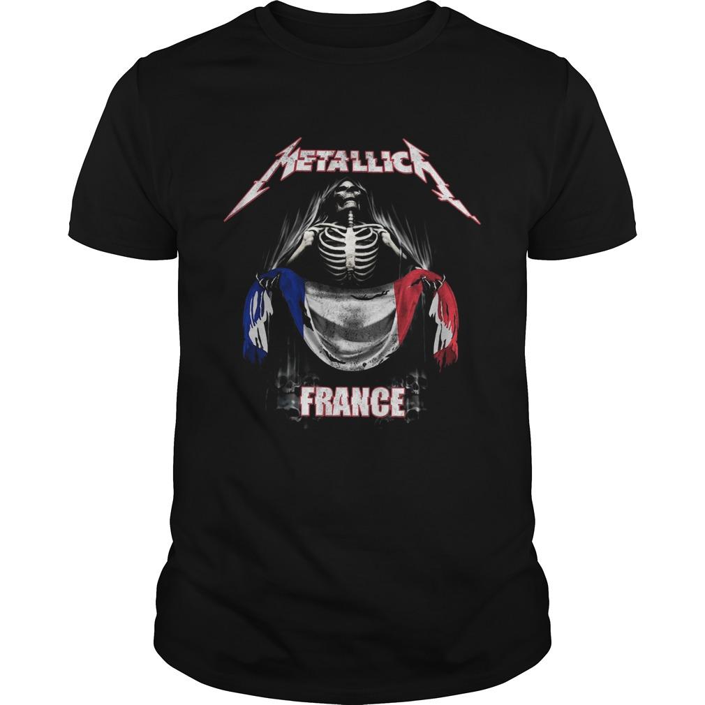 Skeleton Metallica France Flag  Unisex