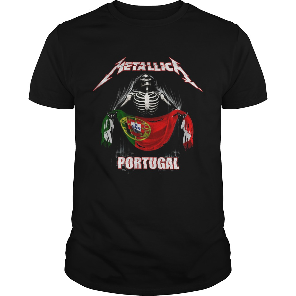 Skeleton Metallica Portugal Flag  Unisex