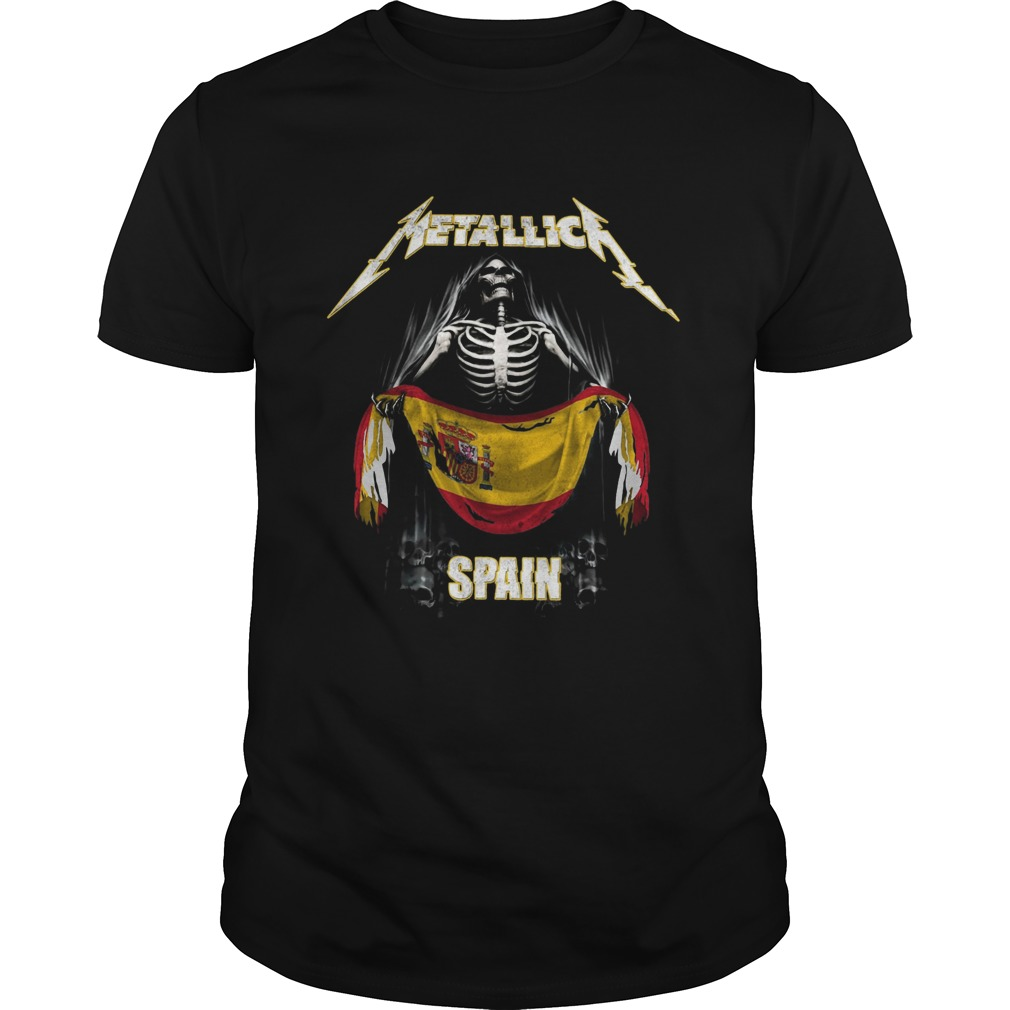 Skeleton Metallica Spain Flag  Unisex