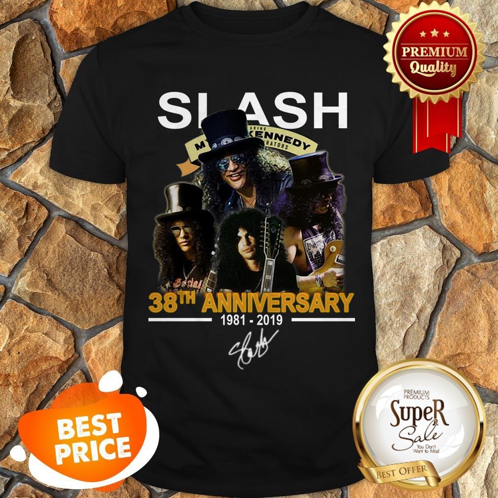 Slash 38th Anniversary 1981 2019 Signature Myles Kennedy Shirt