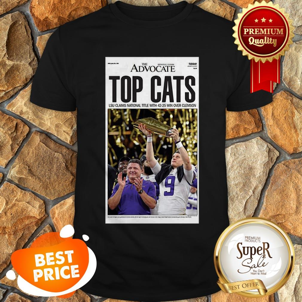The Advocate Top Cats LSU Claim National Title With 42 25 Win Over Clemson Shirt