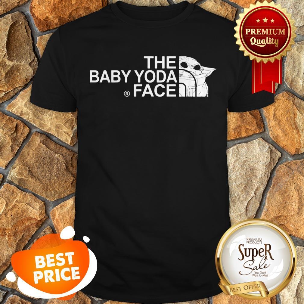 The Baby Yoda Face Mashup The North Face Shirt