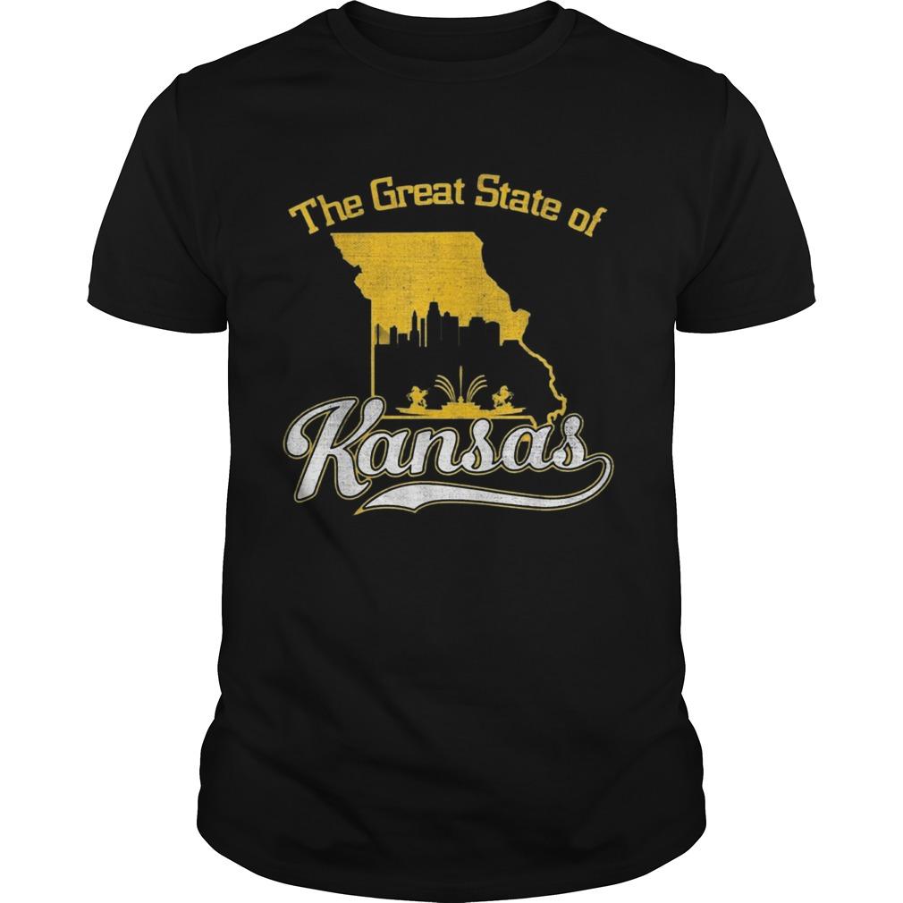 The Great State of Kansas Funny Trump Tweet Missouri Vintage  Unisex