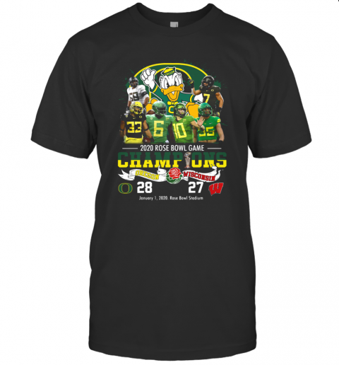 2020 Rose Bowl Game Champions Oregon Vs Wisconsin T-Shirt Classic Men's T-shirt