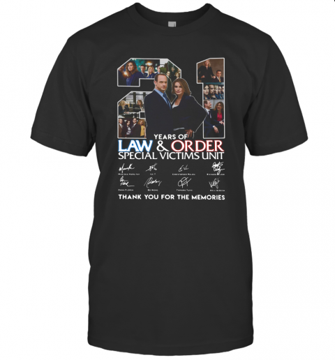 21 Years Of Law And Order Special Victims Unit Thank You For The Memories T-Shirt Classic Men's T-shirt