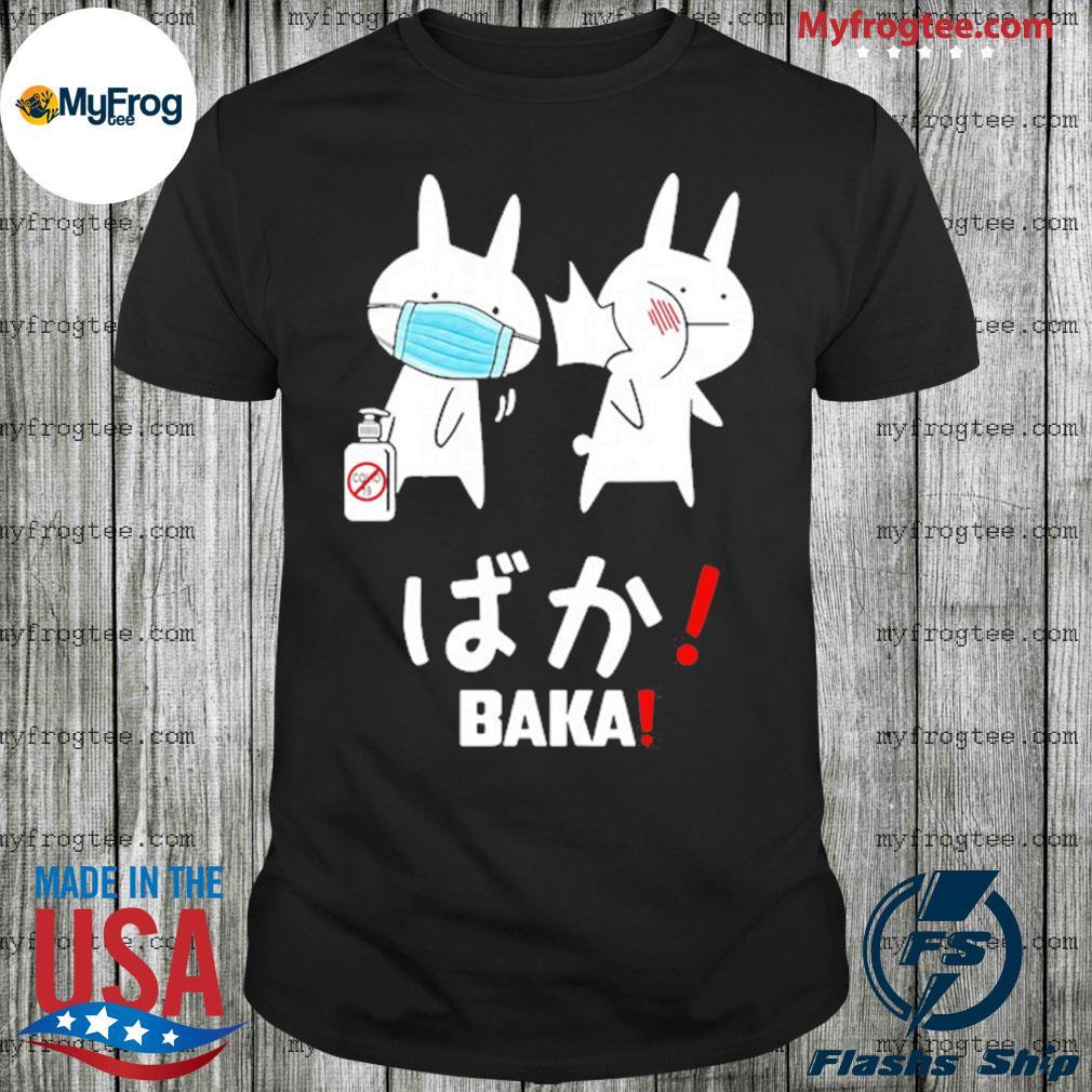 Anime Baka Rabbit Slap Mask Covid-19 Shirt