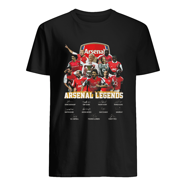 Arsenal Legends Football Players Signatures  Classic Men's T-shirt
