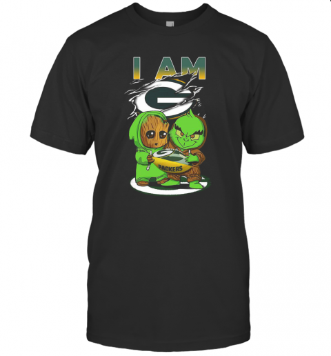 Baby Groot And Baby Grinch I AM Green Bay Packers T-Shirt Classic Men's T-shirt