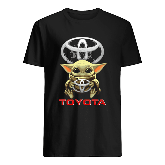 Baby Yoda Hug Toyota  Classic Men's T-shirt