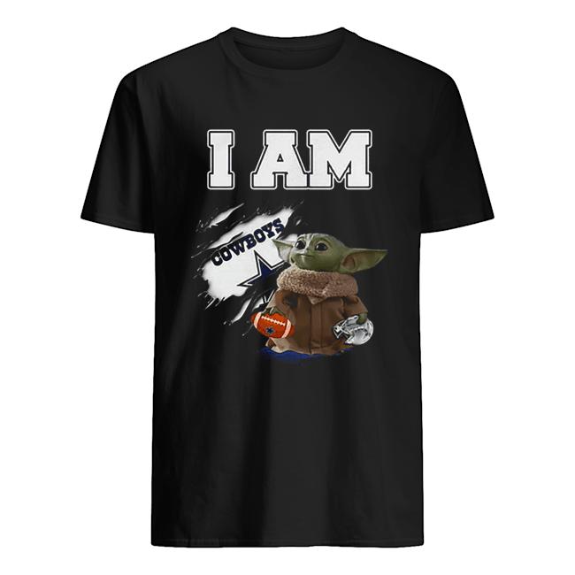 Baby Yoda I am Dallas Cowboys inside me  Classic Men's T-shirt