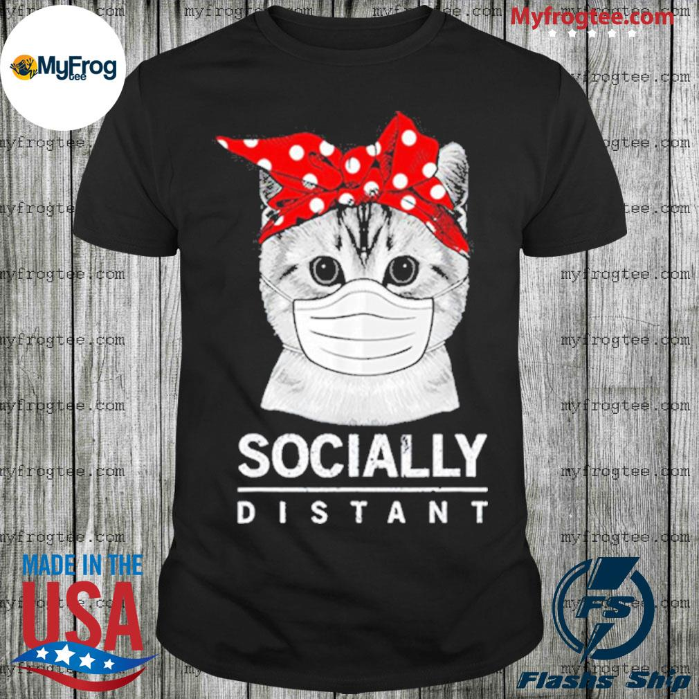 Bandana cat social distance virus prevention socially distant shirt