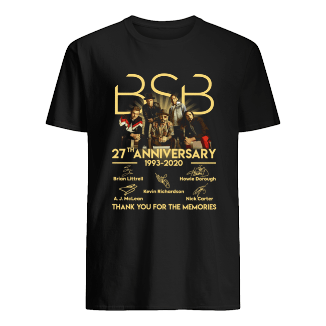 BSB 27th Anniversary 1993 2020 Thank You For The Memories Signature  Classic Men's T-shirt