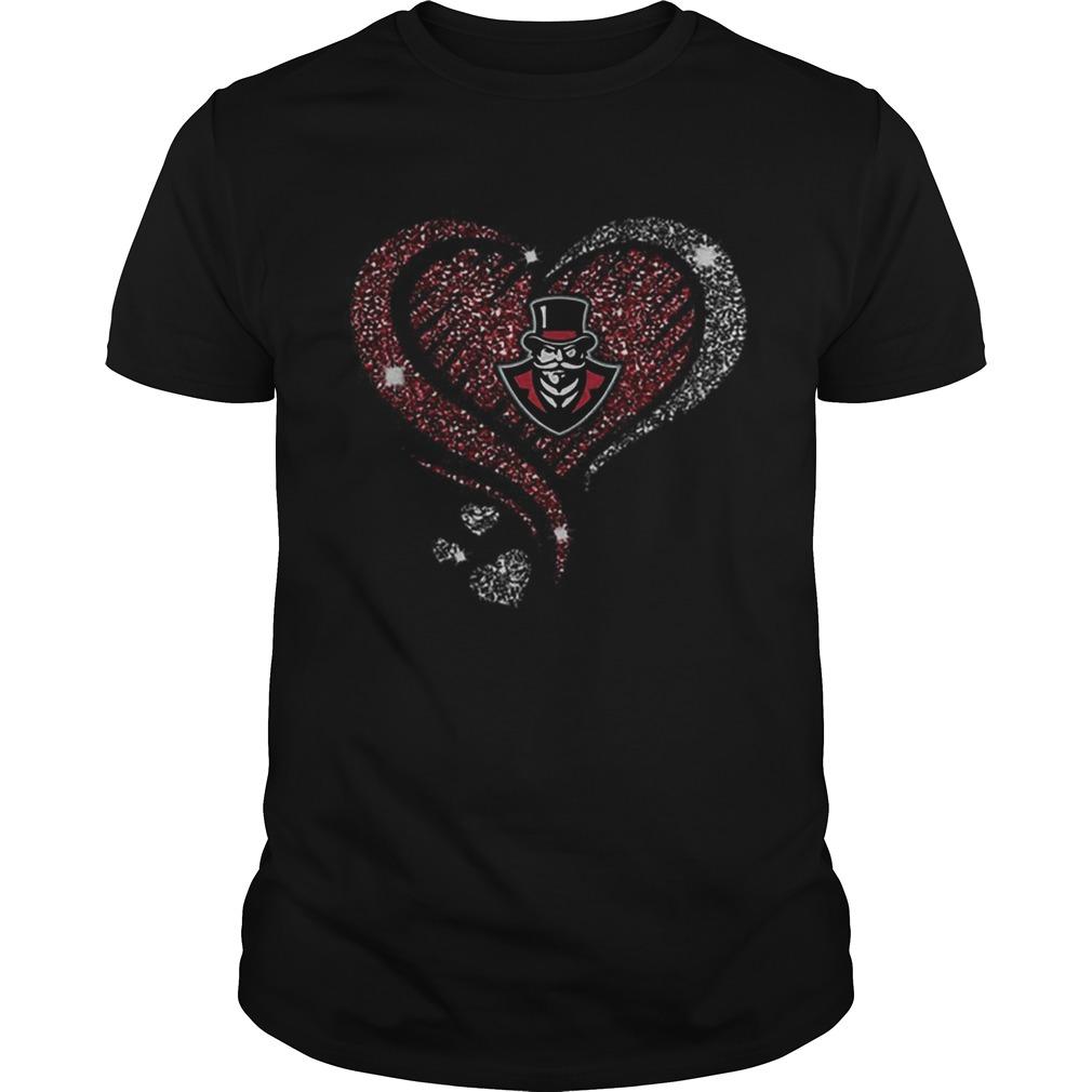 Diamond heart love Austin Peay Governors logo  Unisex