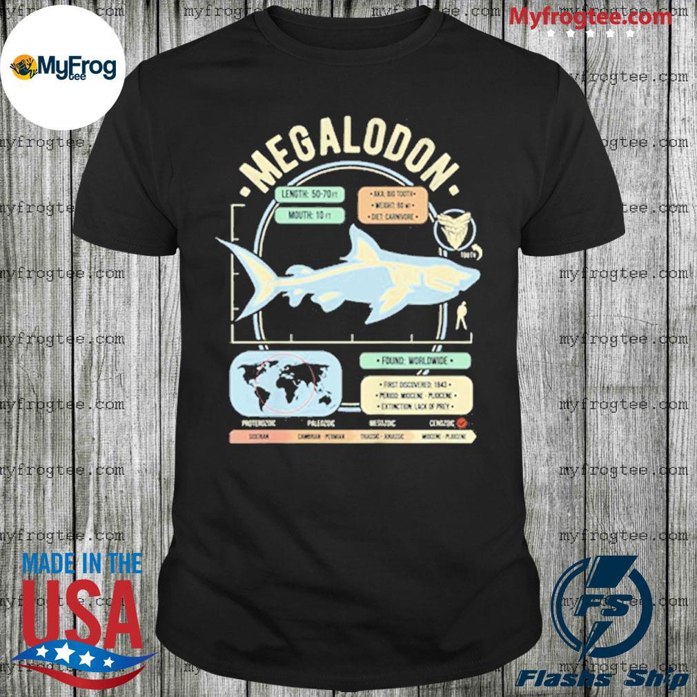 Dinosaur facts megalodon science anatomy gift shirt
