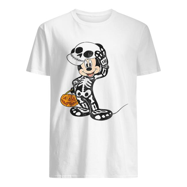 Disney Mickey Mouse Skeleton Costume  Classic Men's T-shirt