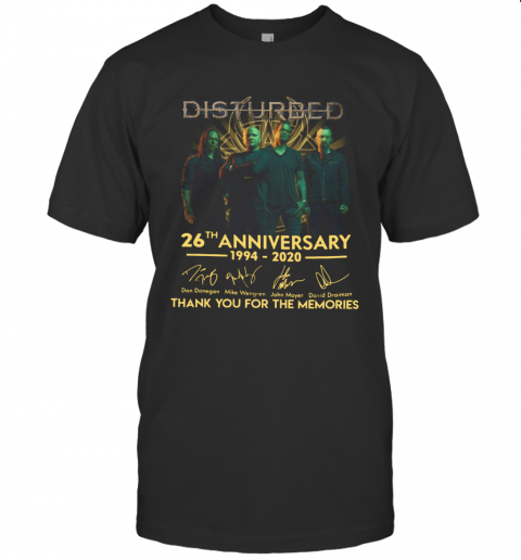 Disturbed 26Th Anniversary 1994 2020 Thank You For The Memories T-Shirt Classic Men's T-shirt