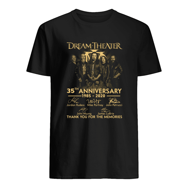 Dream Theater 35th 1985 2020 Anniversary Thank You For The Memories Signature  Classic Men's T-shirt