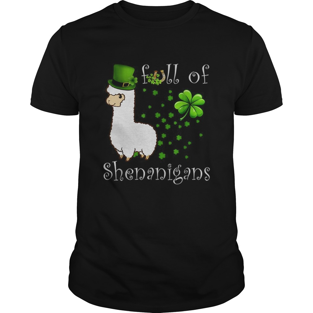 Full Of Shenanigans Alpaca St Patricks Day shirt