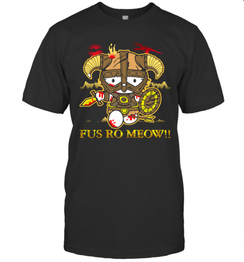 Hello Kitty Fus Ro Meow T-Shirt Classic Men's T-shirt