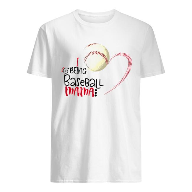 I Being Baseball Mama  Classic Men's T-shirt