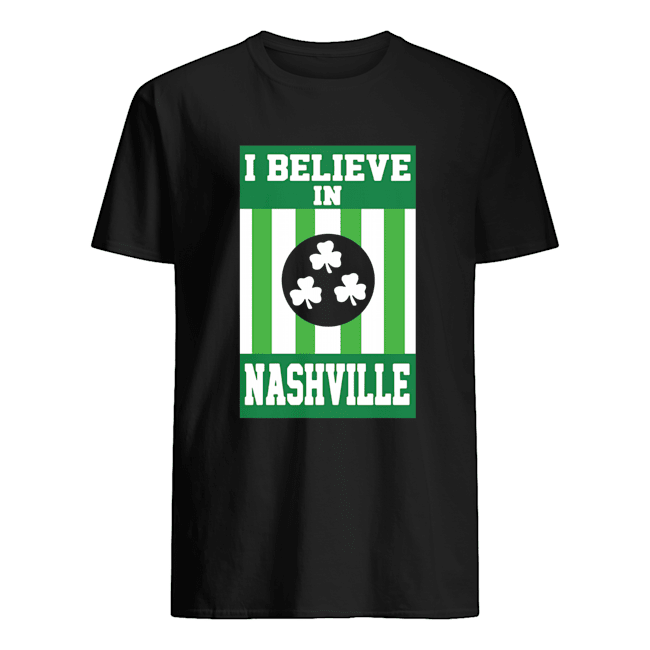 I Believe In Nashville Tonado St Patricks Day  Classic Men's T-shirt