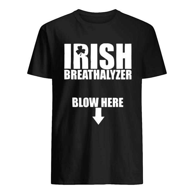 Irish Breathalyzer Blow Here  Classic Men's T-shirt