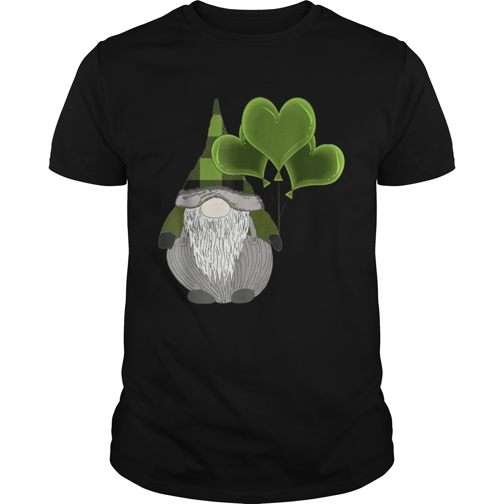 Irish Gnome St Patricks Day Heart Balloons  Unisex