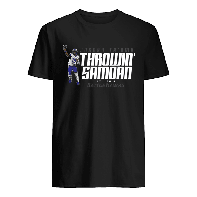 Jordan Ta'amu Throwin Samoan St.Louis Battlehawks  Classic Men's T-shirt