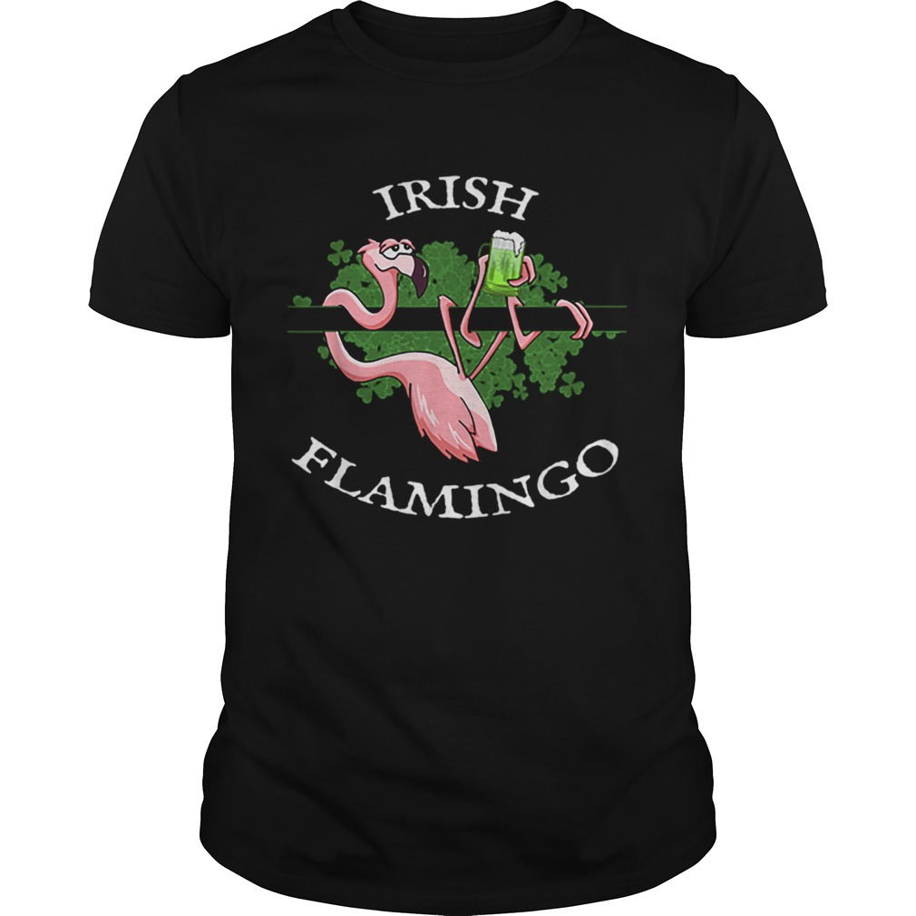 Lazy Irish Flamingo Shamrock Beer Mug St Pattys Day  Unisex