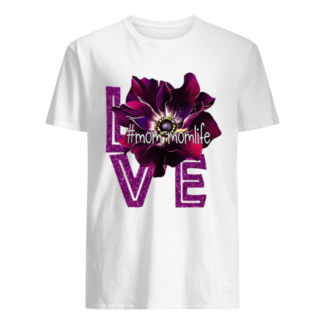 Love Momlife Anemone purple  Classic Men's T-shirt